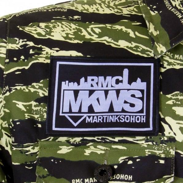 RMC MKWS Mens Tiger Camo Green Zip Up Regular Fit Field Jacket