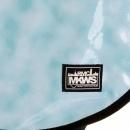 RMC MKWS Mens Unisex Aqua Blue PVC Coated Canvas Shoulder Cyclist Fashion Bag