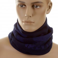 Navy Fleece Neck Warmer Snood
