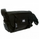 RMC MKWS nisex Black Canvas Shoulder Bag with Flap Closure