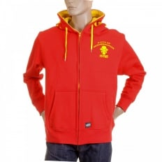 Red Empire Hooded Zipped Regular Fit Sweatshirt