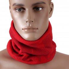 Red Fleece Neck Warmer Snood For Men