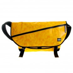 Unisex Amber PVC Coated Canvas Shoulder Cyclist Fashion Bag