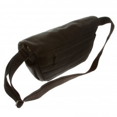 Unisex Black Canvas Shoulder Bag
