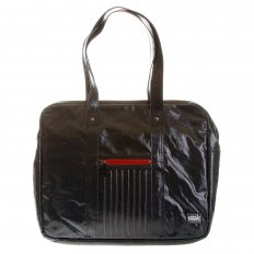 Unisex Coated Denim with Laminated Tartan Lining Hand Carry Bag