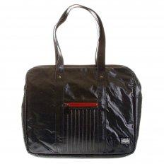 Unisex Coated Denim with Laminated Tartan Lining Hand Carry Bag