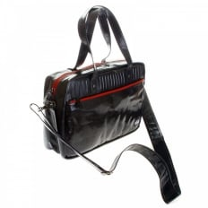 Unisex Coated Denim with Laminated Tartan Lining Hand Carry Office Bag