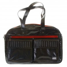 Unisex Coated Denim with Laminated Tartan Lining Hand Held Office Bag