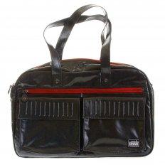 Unisex Coated Denim with Laminated Tartan Lining Hand Held Office Bag