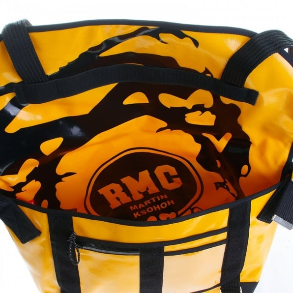 RMC MKWS Unisex Large Amber Laminated Canvas Shoulder Cyclist Fashion Bag