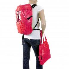 Unisex Pink Lightweight Nylon Backpack