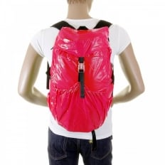 Unisex Pink Lightweight Nylon Backpack