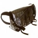 RMC MKWS Unisex PVC Coated Canvas Shoulder Cyclist Fashion Bag in Black