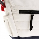 RMC MKWS Unisex White Canvas with Red and Navy Canvas Trim Shoulder Bag