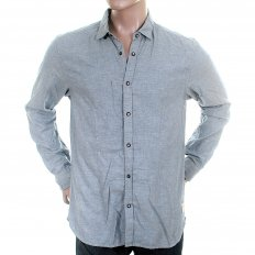 Blue Soft Cotton Long Sleeve Regular Fit Button Down Soft Collar Shirt