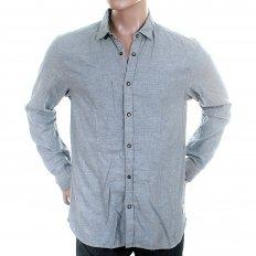 Blue Soft Cotton Long Sleeve Regular Fit Button Down Soft Collar Shirt