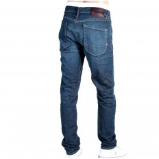 Dean Blue Washed Tapered Button Fly Loose Fit Denim Jeans