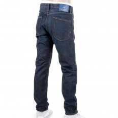 Dean Dark Indigo Washed Tapered Loose Fit Denim Jeans