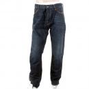 SCOTCH & SODA Dean Dark Indigo Washed Tapered Loose Fit Denim Jeans