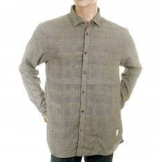 Grey Cotton Long Sleeve Regular Fit Button down Soft Collar Shirt