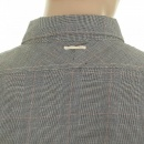 SCOTCH & SODA Grey Cotton Long Sleeve Regular Fit Button down Soft Collar Shirt