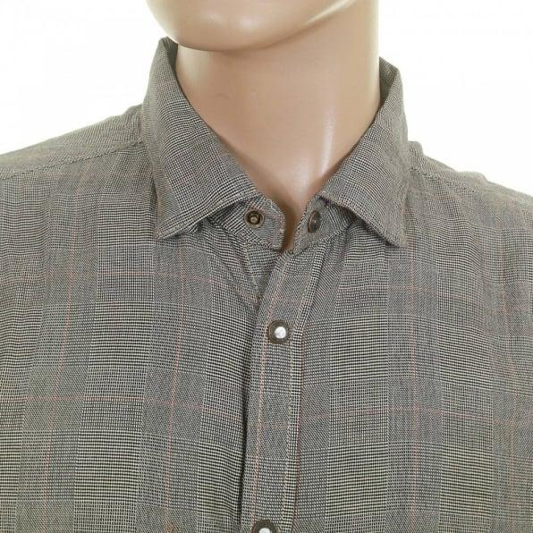 SCOTCH & SODA Grey Cotton Long Sleeve Regular Fit Button down Soft Collar Shirt