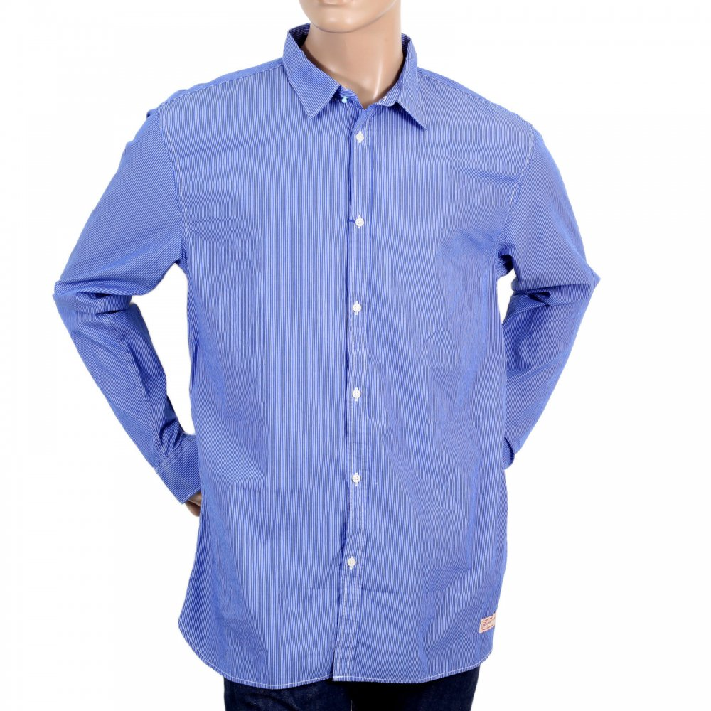 Buy exclusive long sleeve shirt from scotch and soda for Blue and white shirt mens
