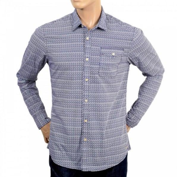 SCOTCH & SODA Mens 100% Cotton Regular Fit Long Sleeve Printed Shirt