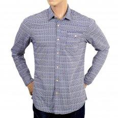 Mens 100% Cotton Regular Fit Long Sleeve Printed Shirt