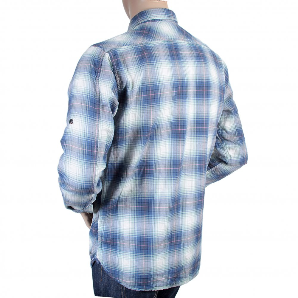 Buy Blue And Mint Green Check Shirt From Scotch Amp Soda At