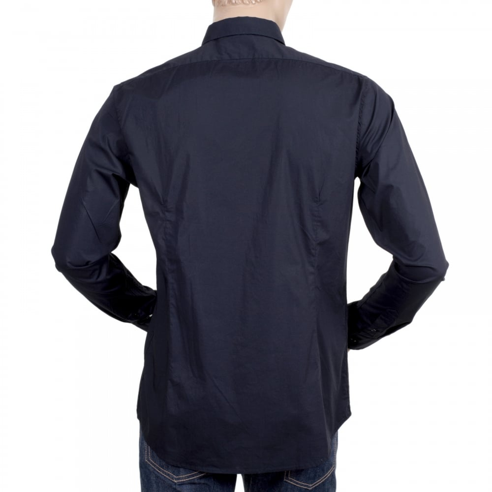 Long sleeve shirt by Scotch and Soda in Dark Navy Blue