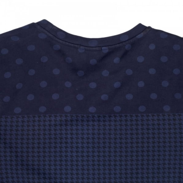 SCOTCH & SODA Mens Regular Fit Crew Neck Garment Dyed Navy Sweatshirt