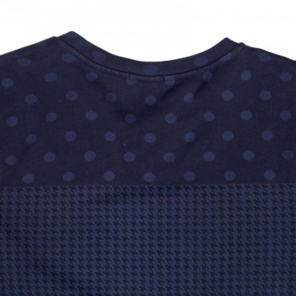 SCOTCH & SODA Mens Regular Fit Crew Neck Garment Dyed Navy Sweatshirt
