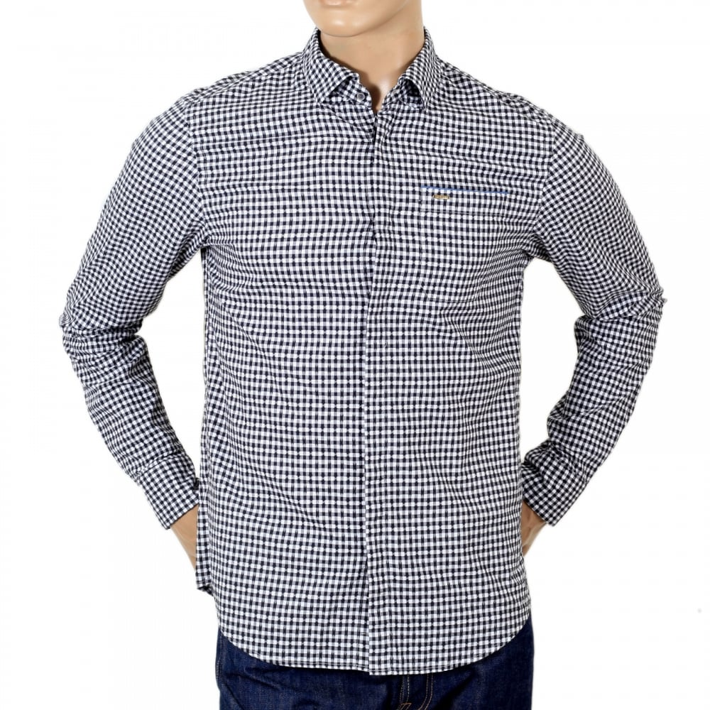 Black and White Mens Checked Shirt by Scotch and Soda