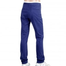 Mens Regular Slim Fit Stuart Stretch Cotton Chinos in Cobalt Blue