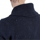 SCOTCH & SODA Navy Recycled Denim Knitted Cotton Mix Regular Fit Cardigan