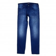 Scotch & Soda Ralston 135056 Winter Spirit Regular Slim Fit Jeans in a China Blue Wash and Worn Look
