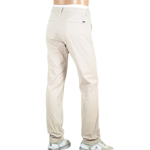 SCOTCH & SODA Regular Slim Fit Stone Stretch Cotton Stuart Chinos with Zip Fly for Men