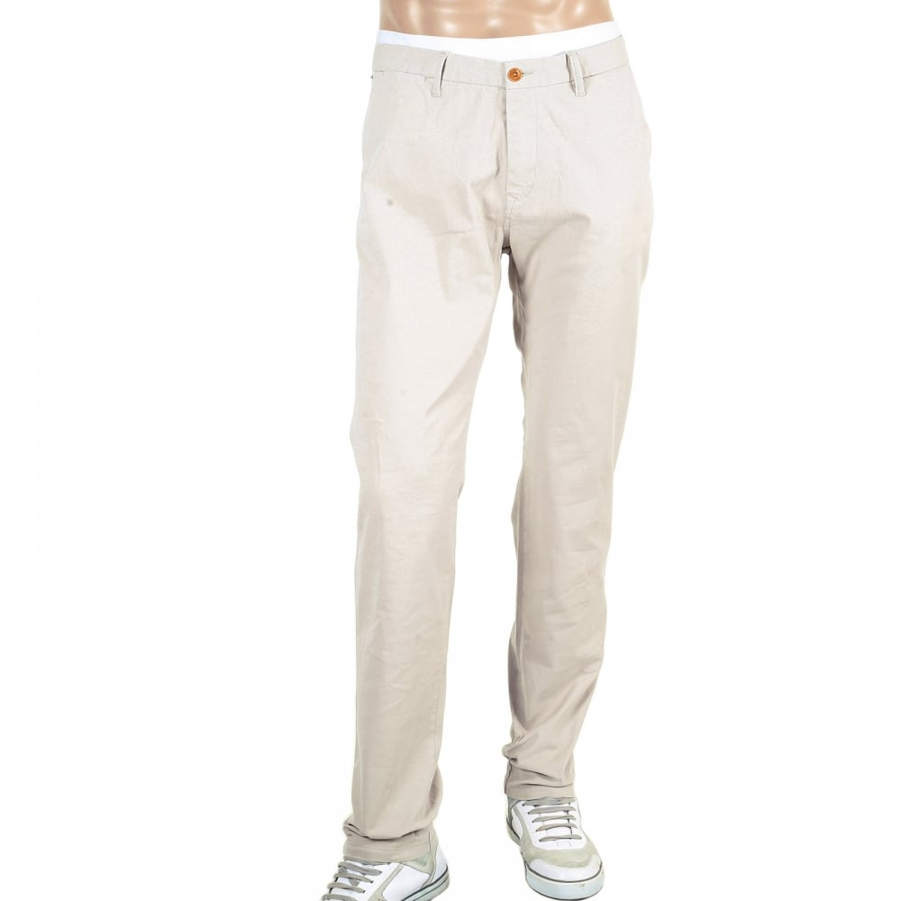 lowest price stable quality official site Buy Mens Slim Fit Chinos in Stone from Scotch and Soda