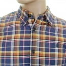 SCOTCH & SODA Sand and Blue Check Cotton Long Sleeve Oxford Shirt