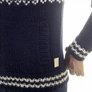 SCOTCH & SODA Shetland Wool Navy Full Zip Front Chunky Knit Cardigan Knitwear