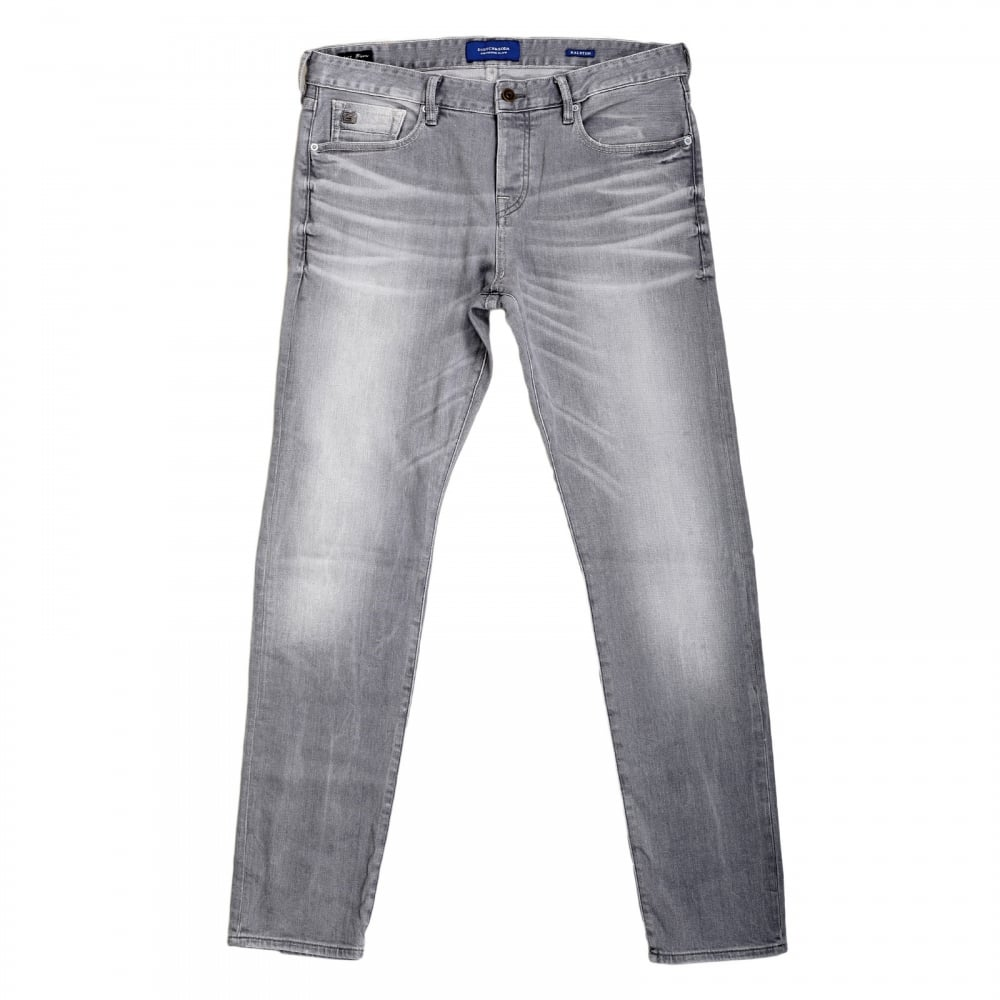 Shop For Mens Grey Slim Fit Jeans From Scotch And Soda