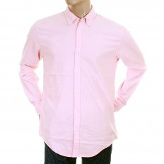 Sun Faded Pastel Pink Cotton Long Sleeve Regular Fit Oxford Shirt