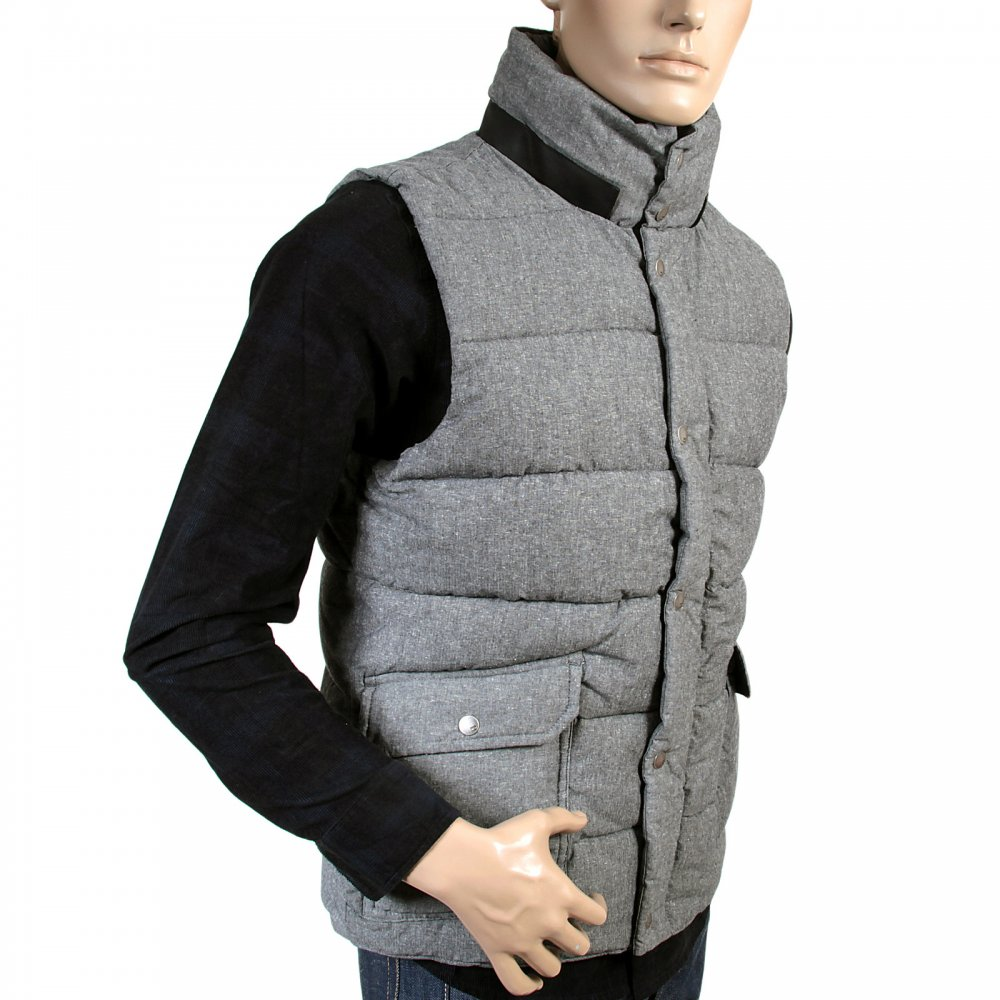 mens regular fit padded gilet in grey by scotch soda. Black Bedroom Furniture Sets. Home Design Ideas