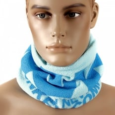 Sky Blue Fleece Neck Warmer Snood For Men