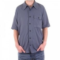 Airforce blue short sleeve shirt