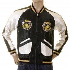 Fully Reversible Musashi and Giant Panda Regular Fit Special Edition Memorial Suka Jacket For Men TT12420