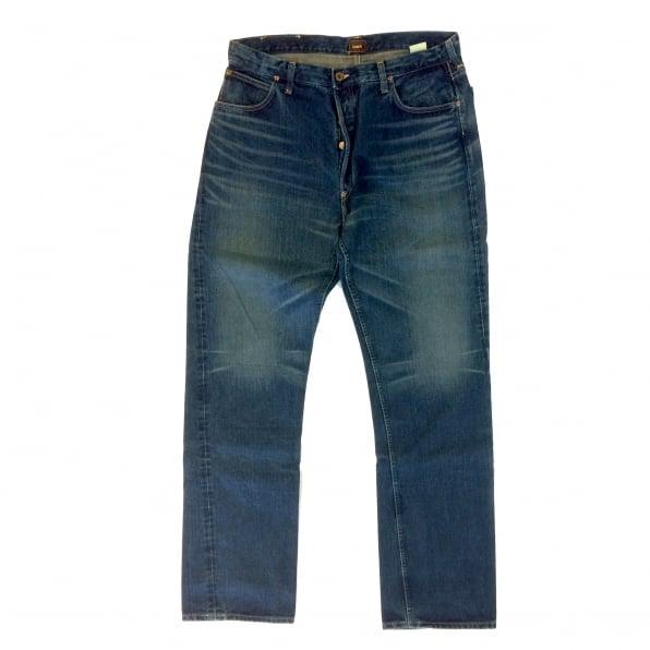 SUGAR CANE Hard Wash Vintage Cut Dark Blue Selvedge Denim Jeans for Men SC41945H
