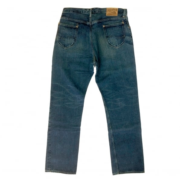 SUGAR CANE Hard Wash Vintage Cut Dark Blue Selvedge Denim Jeans for Men SC41945H