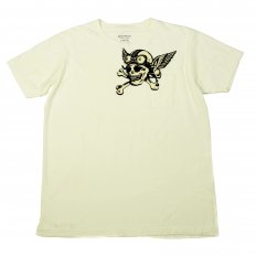 Limited Edition Mister Freedom Crew Neck Short Sleeve Slim Fit T-shirt in Ivory White SC73279